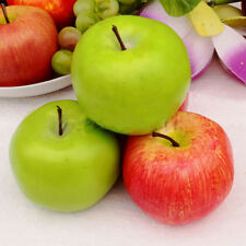 1*/5* Large Red Green Apples Decorative Plastic Artificial Fruit Imitation Fake