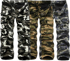 Camo Mens Winter Warm Fleece Lined Casual Army Cargo Combat Work Pants Trousers