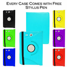"360° Rotate Premium Leather Stand Case Cover For Samsung Galaxy Tab E 9.6"" T560"