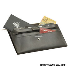 Genuine Leather RFID Travel Wallet Brand New in Black or Navy