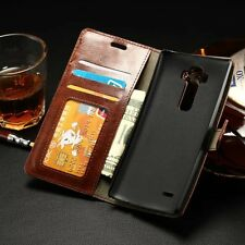 Glossy Luxury Leather Flip Card Wallet Stand Case Cover Pouch For LG G FLEX 2
