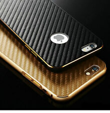 Luxury Aluminum Bumper Carbon Fiber Back Case Cover For iPhone Samsung Galaxy