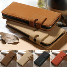 Vintage Luxury Soft Leather Case Magnetic Flip Wallet Cover For iPhone Samsung