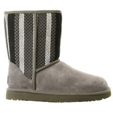 UGG Australia Classic Short Woven Suede Boot  - Womens