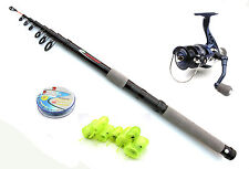 Silstar Cyma reel & compact telescopic Feeder / Leger rod combo with feeders