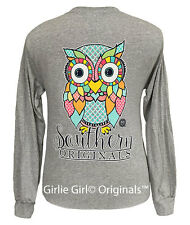 "Girlie Girl Originals ""Preppy Owl"" Long Sleeve Unisex Fit T-Shirt"