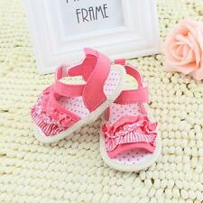 New Toddler Sandals Infant Girl Lace Soft Sole Crib Shoes Fit for 0-18M Baby M30