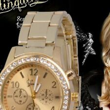 Unisex Quartz Watches Women Pointer Crystal Diamond Wristwatches Stianless Steel
