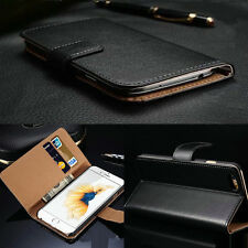 Luxury Genuine Leather Flip Card Wallet Stand Cover Case For iPhone 6S/6S Plus