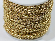 Wholesale 2/5/10M Gold Open Ring Cable Aluminum Chain Finding Craft 6x4mm