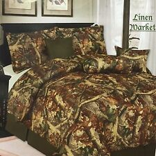 Luxury Hunter Camouflage Bedding Comforter - 7 Piece Set