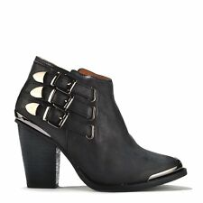 Jeffrey Campbell Westin Metal Toe Buckle Ankle Boot