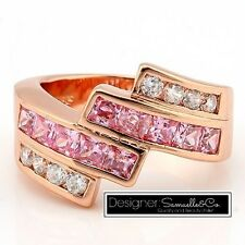 2.0ctw Pink & White Sapphire Ring Size: 8