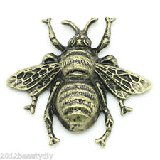 Wholesale Lots Embellishments Findings Cabochon Bee Bronze Tone 4cmx3.7cm