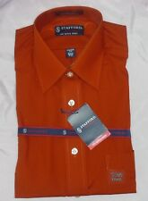 Stafford Mens Dress Shirt classic broadcloth solid long sleeves size 15 15.5 NEW