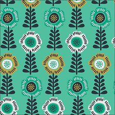 Camelot Fabrics Floral Row in Spearmint Cotton Fabric