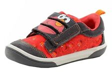 Stride Rite Sesame Street Toddler Boy's Elmo 3-Strap Grey/Red Sneakers Shoes