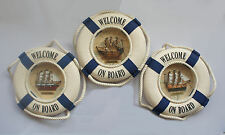 SHIPS NAUTICAL LIFEBUOY PLAQUE CHOICE OF MAYFLOWER, H.M.S. VICTORY OR CUTTY SARK