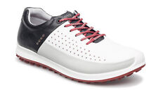 ECCO 2016 Mens Biom Hybrid 2 White/Black Hydromax Waterproof Leather Golf Shoes