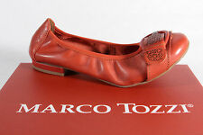 Marco Tozzi Ballerina Slipper Shoes Real Leather Court Shoes NEW
