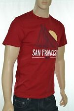 Levi's Men's Short Sleeve Crew Neck San Francisco Graphic Red T-Shirt New w/Tags