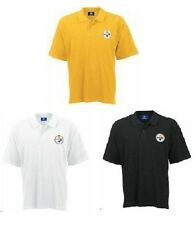 Pittsburgh Steelers Golf Polo Shirt from VFImagewear - Black Gold or White