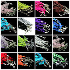 Hot 5/20pcs Organza Ribbon Cord Lobster Clasps Necklace Chains Jewelry 48cm Gift