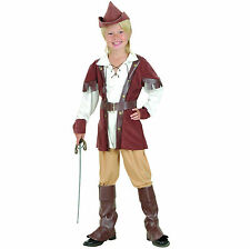 NOTTINGHAM FOREST ROBIN #HOOD DELUXE COSTUME FOR BOYS BROWN AGES 4-14