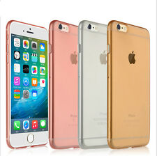 Ultra Thin Silicone Gel Rubber Clear Slim Matte Case Cover for iPhone 6 6s/Plus