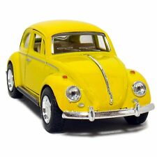 "NEW 5"" 1967 Volkswagen Classic Beetle 1:32 Scale (Yellow), Pull Back Action"