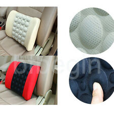12V Car Office Electrical Seat Back Lumbar Support Cushion Pillow With Massage