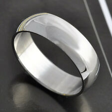 Smooth Stainless Steel Unisex Mens Promise Love Band Ring Size 8-9-10-11-12