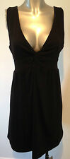 New Black Beach Dress XL Extra Large Ladies Cover Up Short Dress Low Front Sexy