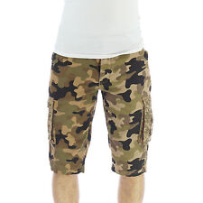 Mens Shorts Cargo Jack South Chewy Camo Camouflage Military Cotton Summer Pants