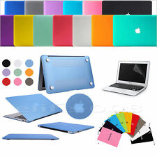 """Rubberized Hard Matte Cover Matte Case for Macbook PRO/AIR 11""""13"""" 15""""+Sleeve Bag"""