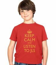 Keep Calm and Listen to JLS Kids T-Shirt Childs Ages 3-13 Boys and Girls Tee