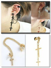 1pc Tassel Stud Chic Cool Crosses Chain Rock Punk Ear Wrap Cuff Clip Earring
