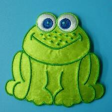 1 Frog Animal Iron on Patch Embroidered Applique Sew Insert Rock Biker Baby Cute
