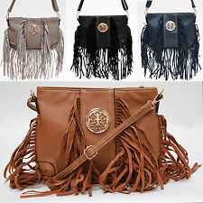 Womens Fashion Shoulder Bag Handbag New Fringe Ladies Leather Style Across Body
