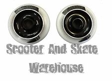 2 X METAL CORE FLAVOR SCOOTER WHEELS -100MM 88A -  BLACK  WITH BEARINGS