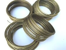 Jewellery Making Antique Bronze Steel 1mm Thick Memory Wire - 50 loops