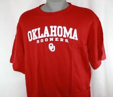 NEW Mens MAJESTIC Section 101 Oklahoma Sooners OU NCAA Legacy Cardinal Red Shirt