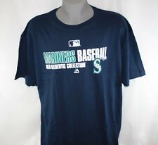 NEW Mens MAJESTIC Seattle Mariners Baseball MLB Authentic Collection Blue Shirt