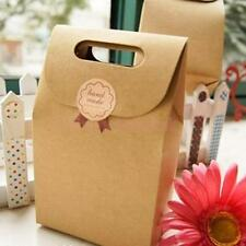 5pcs Brown Kraft Paper Party Loot Treat Gift Goody Bags Cupcake Muffin Boxes
