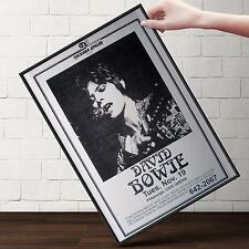 DAVID BOWIE Concert Poster | Cubical ART | Gifts For Guys, Geeks | FREE Shipping