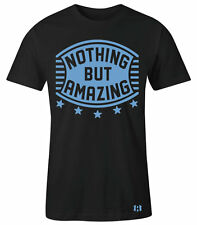 """NOTHING BUT AMAZING"" Shield T-Shirt to Match Foamposite One""University Blue"""