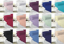Plain Dyed Polycotton Fitted sheets Single Double King Super king - 19 Colours