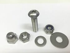 3mm STAINLESS BUTTON ALLEN BOLTS +  PENNY WASHERS NYLOC & FULL NUTS & DOME NUTS