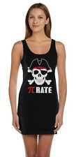 Pi-Rate - Funny Math Pirate Skull and Crossbones Tunic Dress Cool
