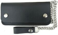 BRAND NEW BSET QUALITY LEATHER TRI FOLD CHAIN WALLET